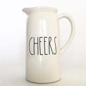 Rae Dunn Artisan Collection Ceramic Pitcher CHEERS
